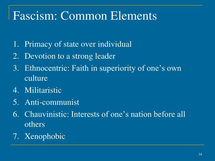 Fascism: Common Elements
