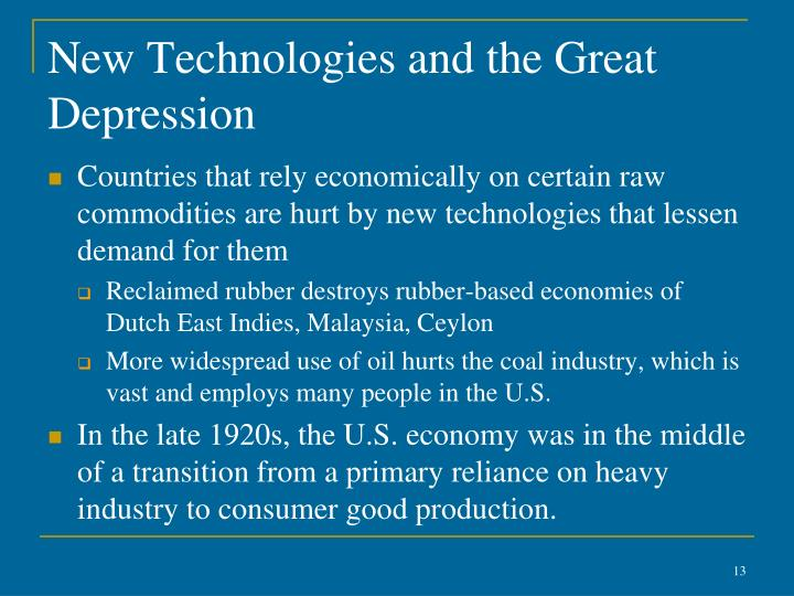 New Technologies and the Great Depression