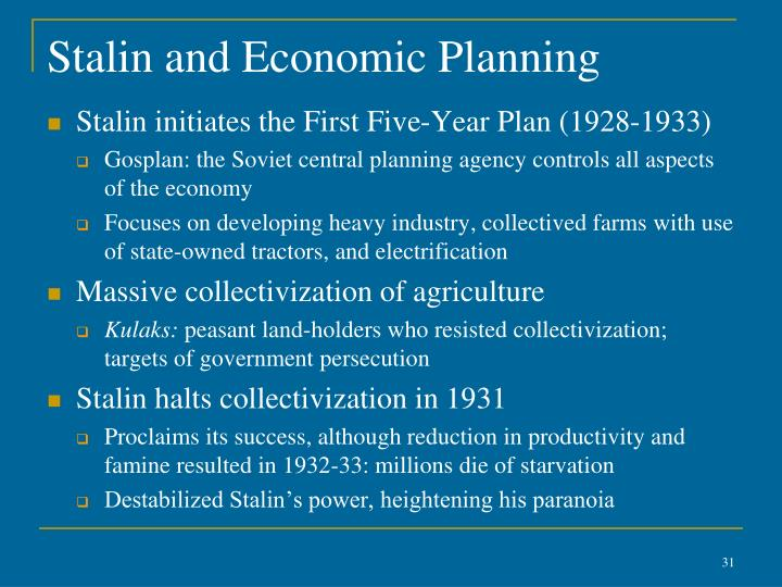 Stalin and Economic Planning