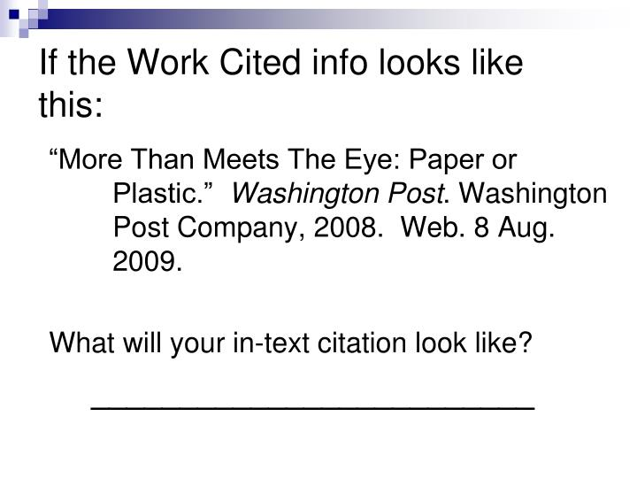 If the Work Cited info looks like this: