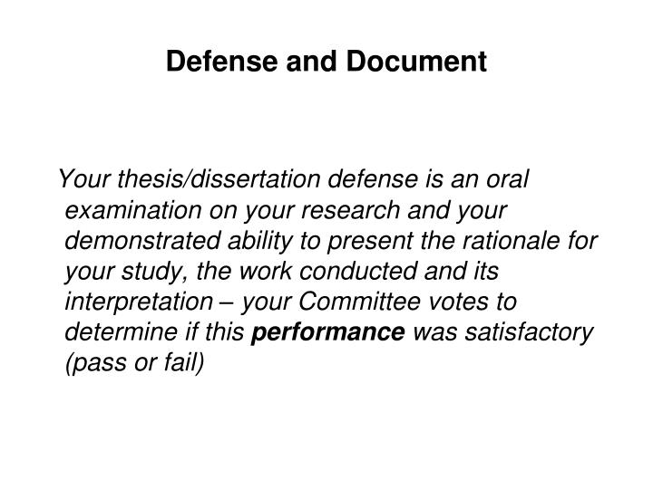 Defense and Document