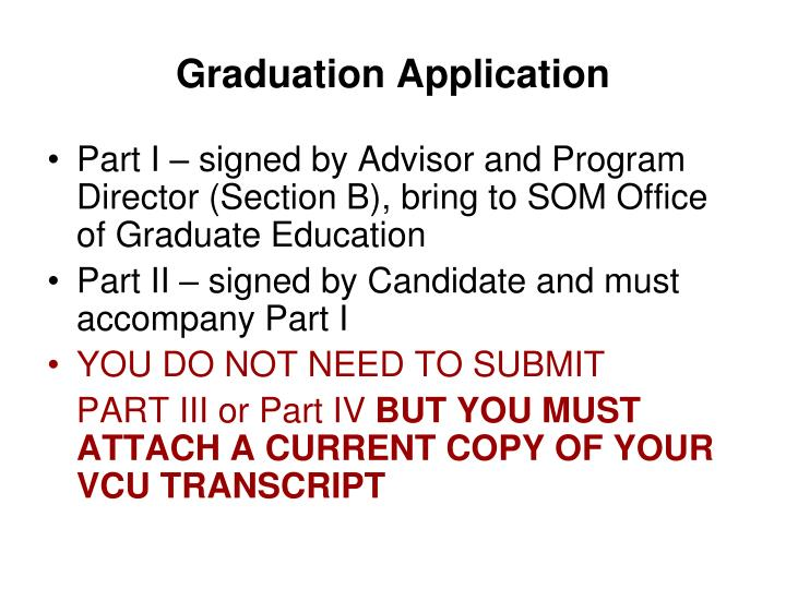Graduation Application