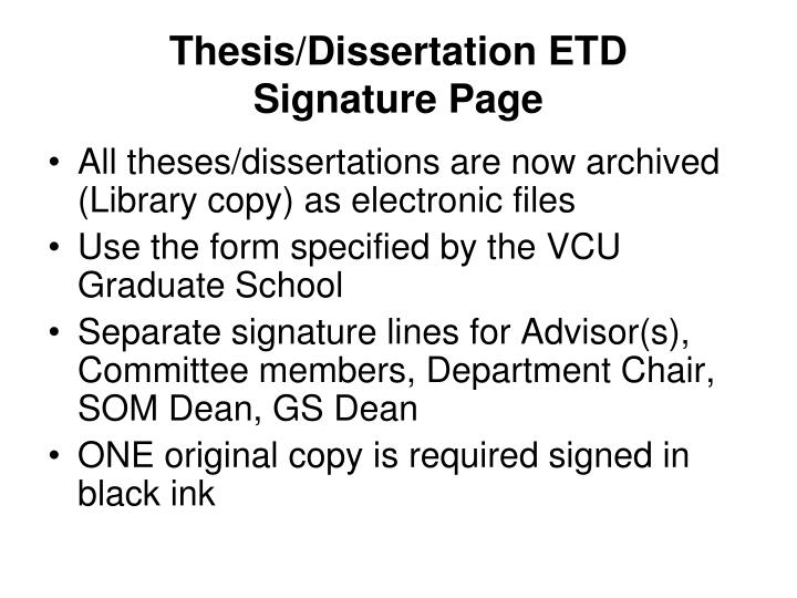 Thesis/Dissertation ETD