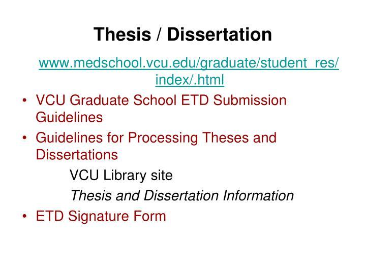 Thesis / Dissertation