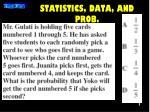 statistics data and prob