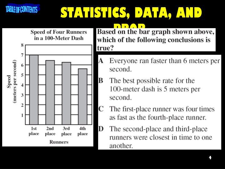 STATISTICS, DATA, AND PROB.