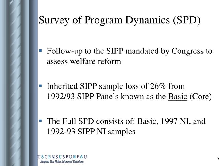 Survey of Program Dynamics (SPD)