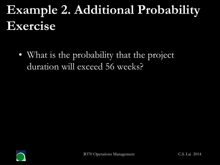 Example 2. Additional Probability Exercise