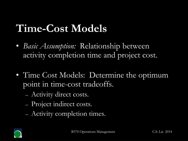 Time-Cost Models