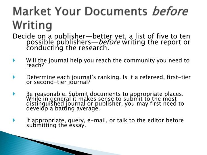 Market Your Documents