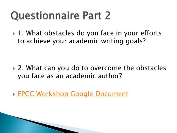 Questionnaire Part 2