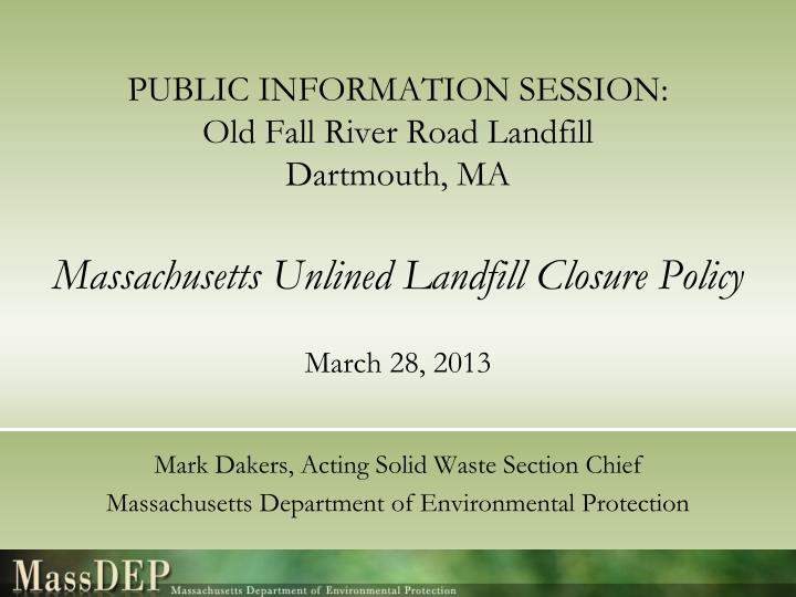 PUBLIC INFORMATION SESSION: