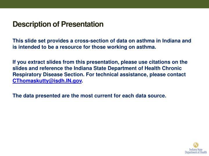 Description of Presentation