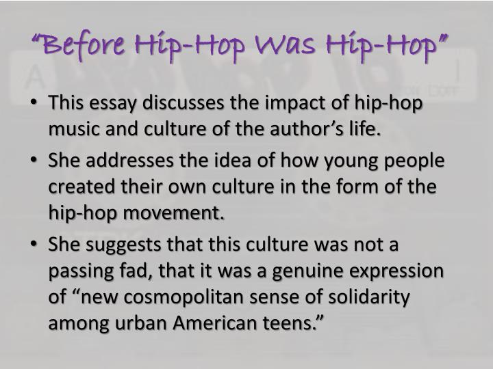 """Before Hip-Hop Was Hip-Hop"""