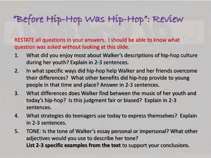 """Before Hip-Hop Was Hip-Hop"": Review"