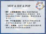 mdf idf pop