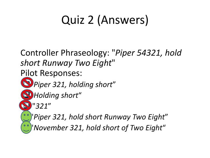 Quiz 2 (Answers)