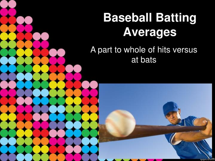 Baseball batting averages