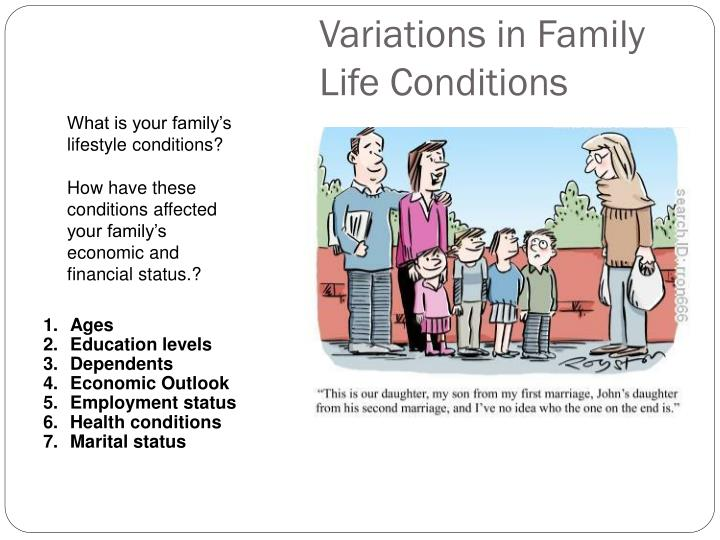 Variations in Family Life Conditions