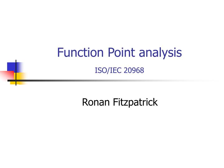 Function point analysis iso iec 20968