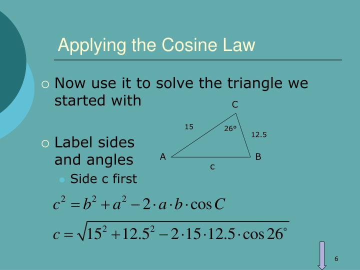 Applying the Cosine Law