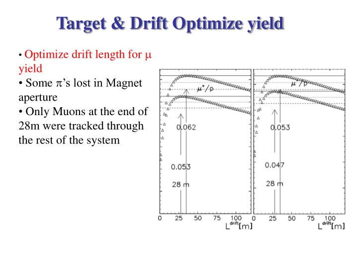 Target & Drift Optimize yield
