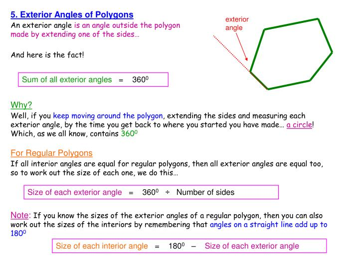 5. Exterior Angles of Polygons