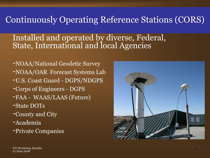 Continuously Operating Reference Stations (CORS)