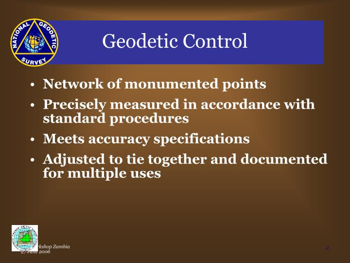 Geodetic Control