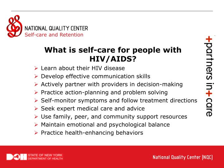 Learn about their HIV disease