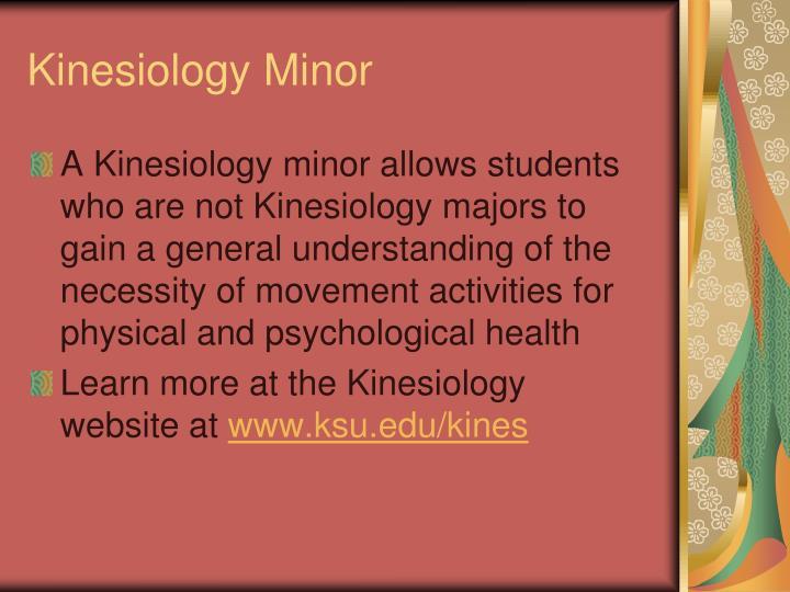 Kinesiology Minor