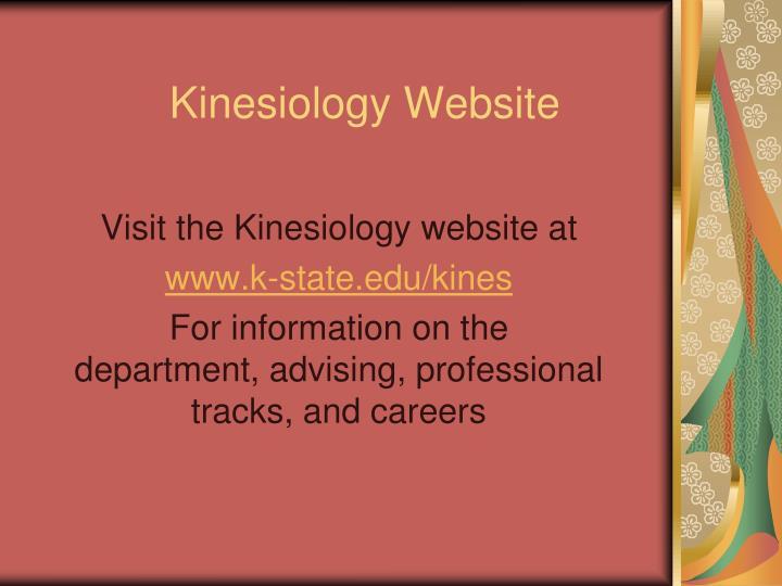 Kinesiology Website