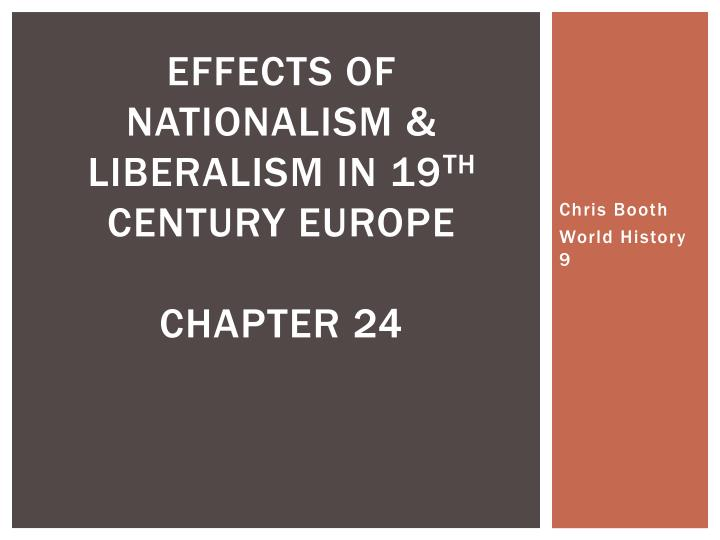 conservatism and liberalism in 19th century