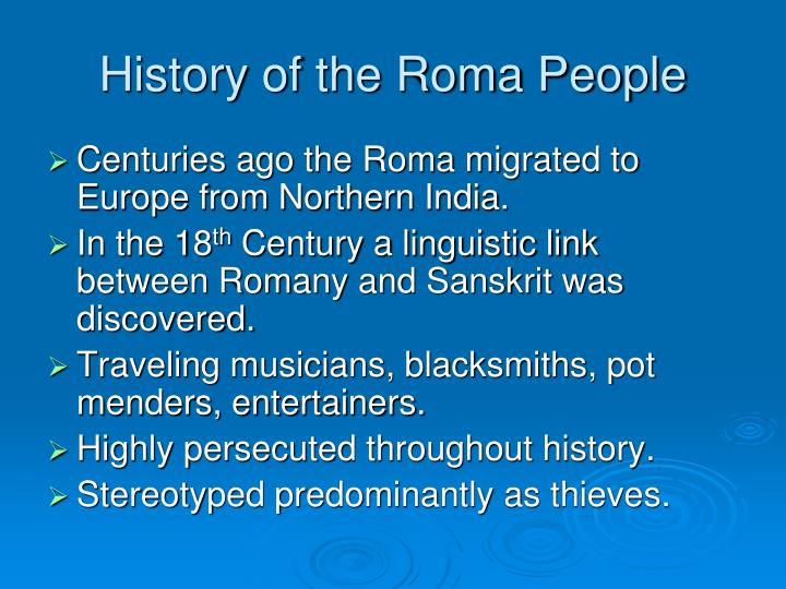 History of the Roma People