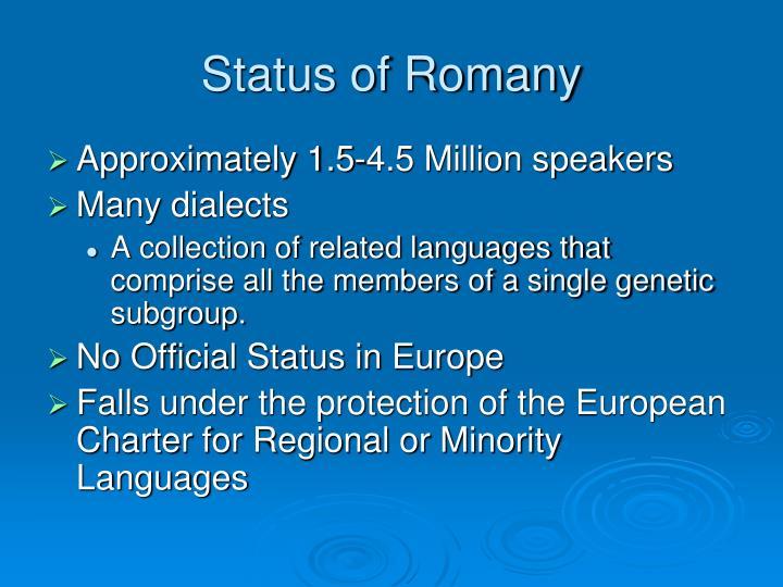 Status of Romany