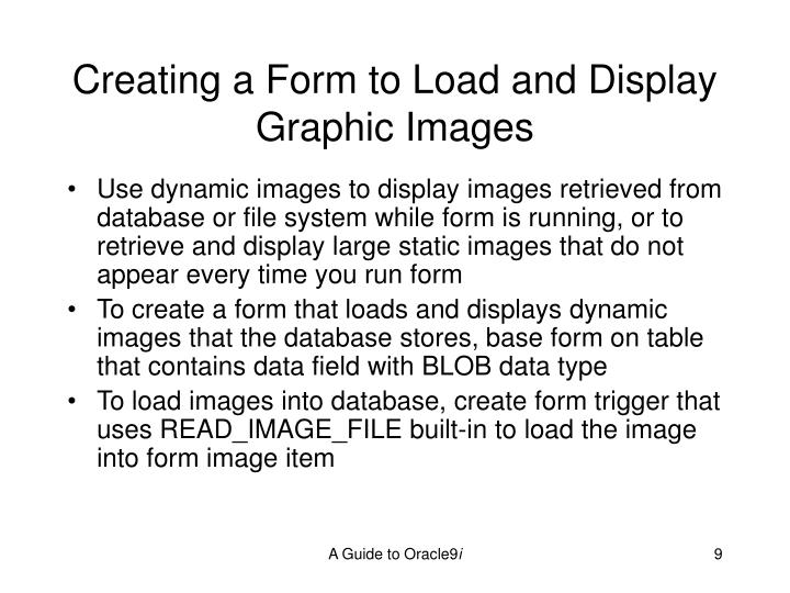 Creating a Form to Load and Display Graphic Images