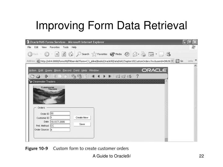 Improving Form Data Retrieval