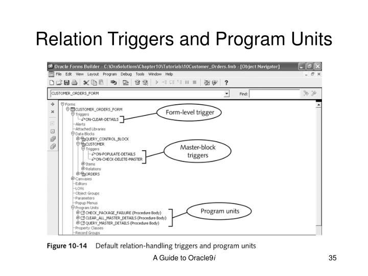 Relation Triggers and Program Units