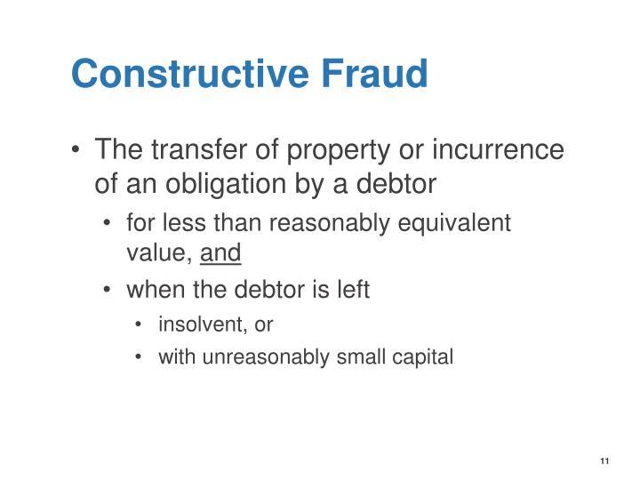 Constructive Fraud
