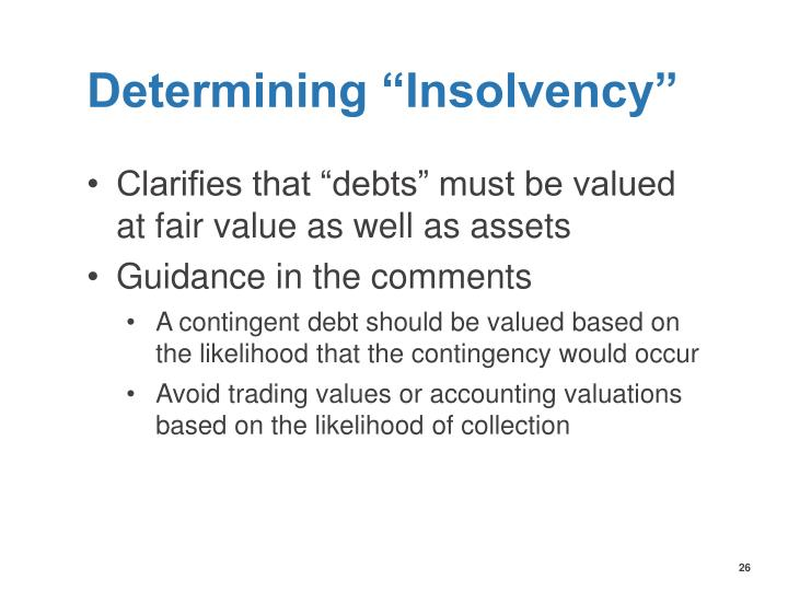 "Determining ""Insolvency"""