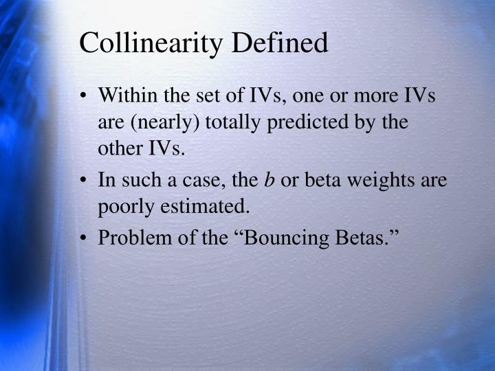 Collinearity defined