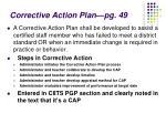 corrective action plan pg 49