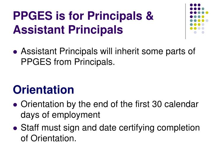 PPGES is for Principals & Assistant Principals
