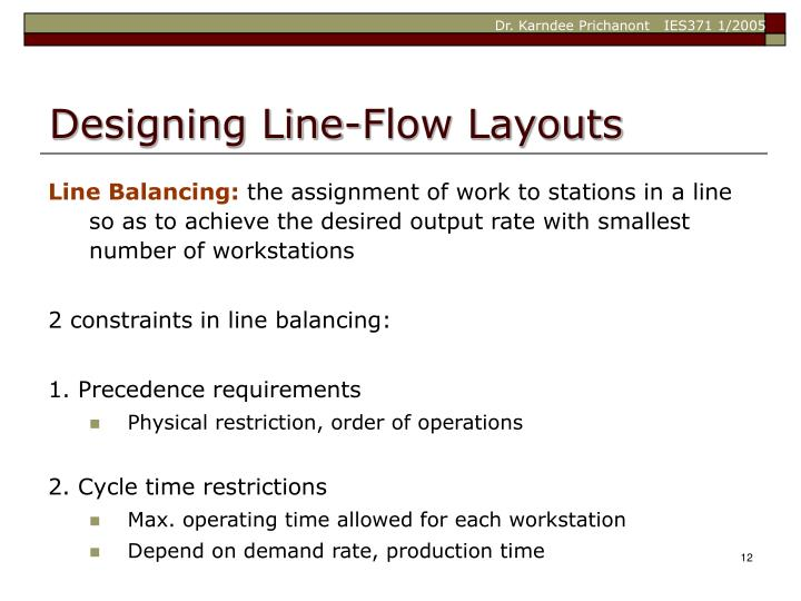 Designing Line-Flow Layouts