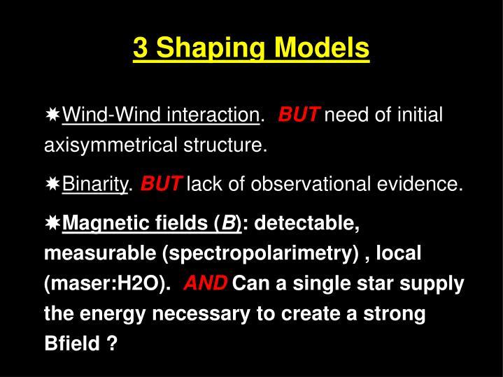 3 Shaping Models