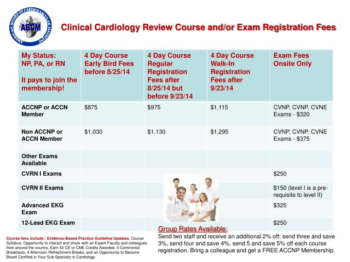 Clinical Cardiology Review Course and/or Exam Registration Fees