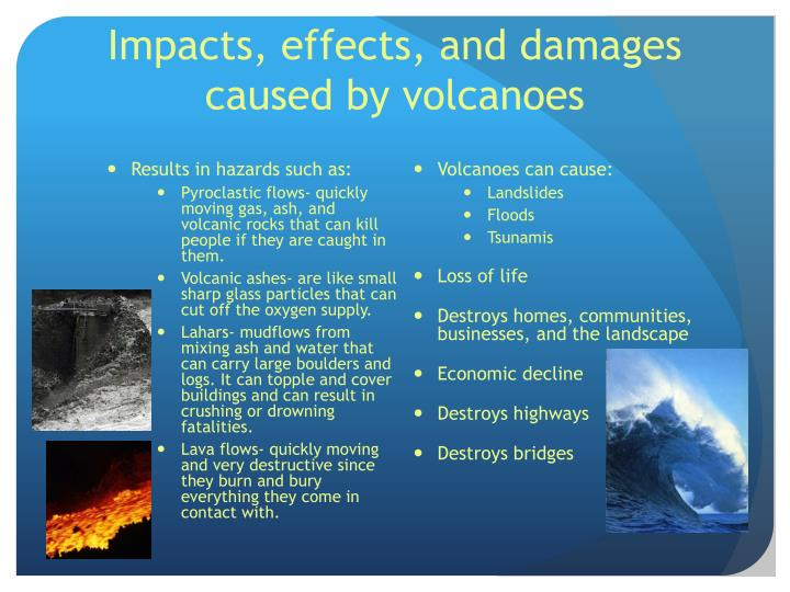 Impacts, effects, and damages caused by volcanoes