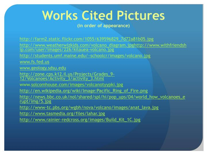 Works Cited Pictures