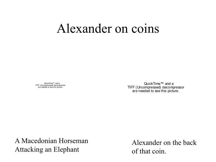 Alexander on coins