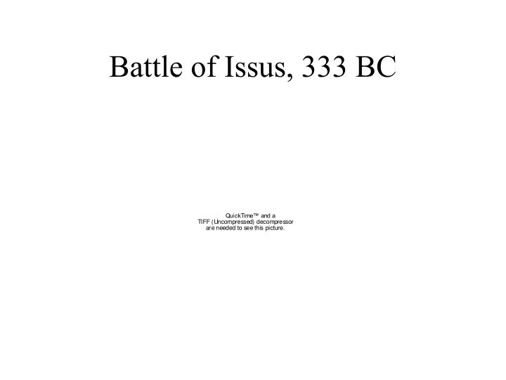 Battle of Issus, 333 BC